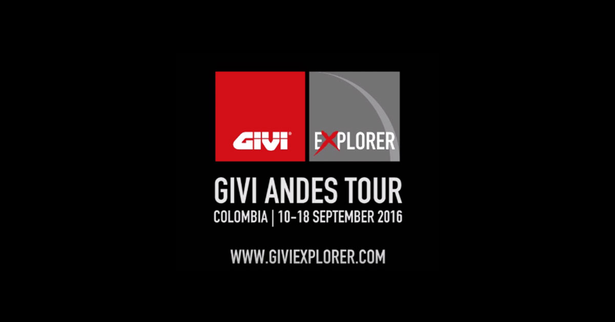 The+GIVI+ANDES+TOUR+COLOMBIA+2016+come%C3%A7a+neste+m%C3%AAs+de+setembro%21